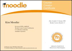 Moodle Zertifikat